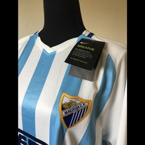 Nike official Malaga Soccer team jersey new w tags